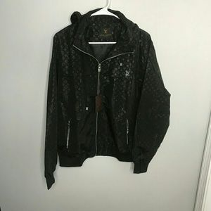 Louis Vuitton XXL Black Windbreaker Jacket